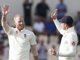 England's Ben Stokes celebrates taking the wicket of West Indies' Shannon Gabriel during day four of the third cricket Test match at the Daren Sammy Cricket Ground in Gros Islet, St. Lucia, Tuesday, Feb. 12, 2019. (AP Photo/Ricardo Mazalan)