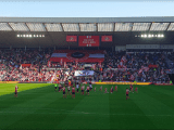 Sunderland's Roker End flag display seconds before kick-off against Doncaster Rovers | Picture Credit: Ian Crow