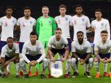 England group team photo during the international friendly match at the Amsterdam ArenA