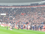 Sunderland walk out ahead of their League One fixture against Portsmouth in front of over 41,000 fans | Picture Credit: Ian Crow