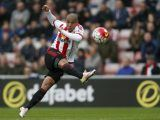 Sunderland's Wahbi Khazri scores his side's first goal of the game during the Barclays Premier League match at the Stadium of Light, Sunderland.