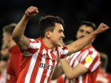 Sunderland's Luke O'Nien celebrates after the final whistle during the Sky Bet League One Play-off, Semi Final, Second Leg match at Fratton Park, Portsmouth.