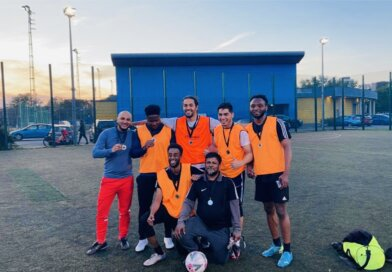 Team Sunderland London Campus celebrate league victory